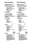 Reading Strategies Bookmark for comprehension