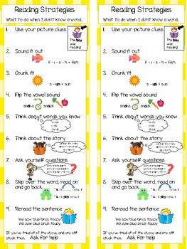 Reading Strategies Bookmarks & Posters BUNDLE