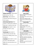 Reading Strategies Bookmarks (independent reading)
