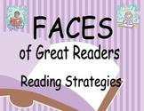 Reading Strategies Bulletin Board - FACES of Great Readers