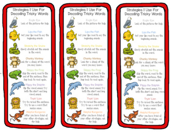 Reading Strategies Bundle - Comprehension and Decoding Strategies
