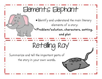 Reading Strategies Bundle with Animal Friends