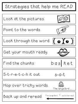 Reading Strategies Card