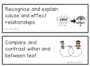 Reading Strategies Cards for First Grade