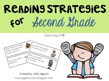 Reading Strategies Cards for Second Grade
