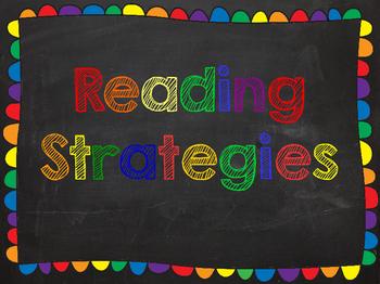 Reading Strategies Chalkboard Posters