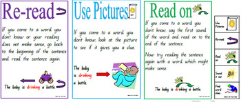 Reading Strategies Charts and Bookmarks