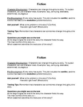 Reading Strategies Cheat Sheets