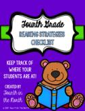 Reading Strategies Checklist- Fourth Grade
