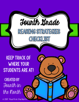 Reading Strategies Checklist- Fourth Grade