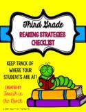 Reading Strategies Checklist- Third Grade