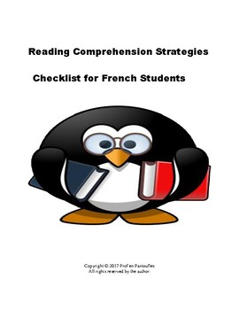 Reading Strategies Checklist for French Students