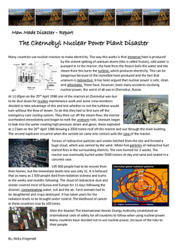Reading Strategies - Chernobyl Nuclear Disaster - Man Made Disaster