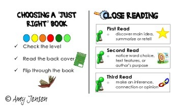 Reading Strategies + Choosing a Just Right Book