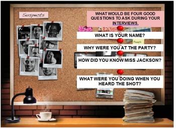 Reading Strategies Classroom Murder Mystery (Word Doc Version)