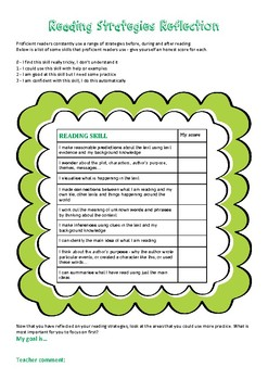 Reading Strategies Reflection