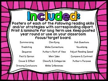 Reading Strategies & Comprehension Skills Posters