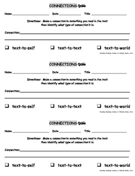 Reading Strategies - Connections Guide