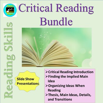 Reading Strategies-- Critical Reading