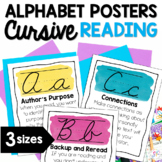 Reading Strategies Cursive Alphabet Posters