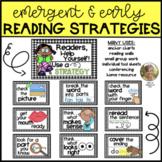 Reading Strategies Emergent and Early Readers Kindergarten