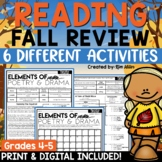Reading Strategies Fall Mystery Pictures | Figurative Lang