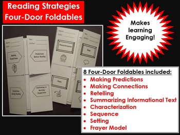 Reading Strategies:  Foldables for Summarizing, Characterization, and more!