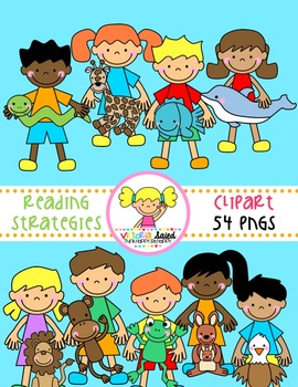 Reading Strategies Friends Clipart