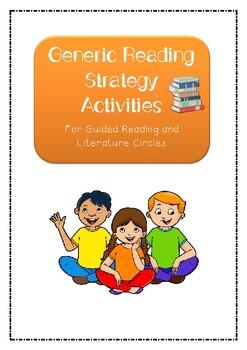 Reading Strategies- GENERIC GUIDED READING WORKSHEET BUNDLE