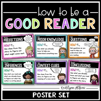 Reading Strategies - GOOD READER Posters