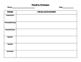 Reading Strategies Graphic Organizer