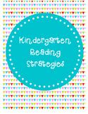 Reading Strategies (Guided Reading)- Kindergarten