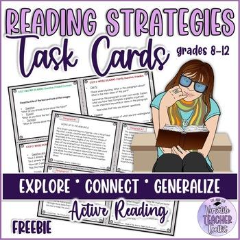 Reading Strategies Handout BACK TO SCHOOL