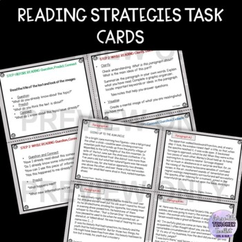 Reading Skills Task Cards (reading strategies)