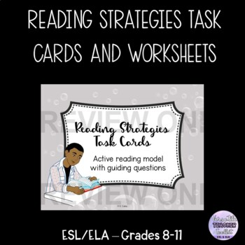 Reading Skills Task Cards and Handouts for Reading Passages (reading strategies)