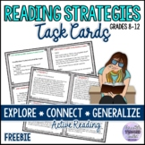 Reading Strategies Task Cards and Worksheet - Active Readi