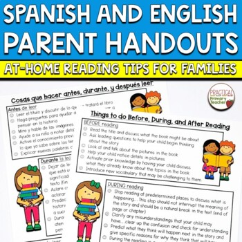 Reading Strategies Handout Spanish and English