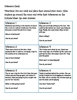 Reading Strategies- Infer/Predict