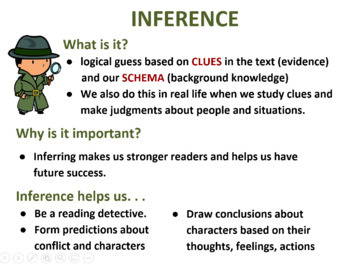 Reading Strategies: Introducing Inference