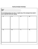 Reading Strategies Knowledge Quiz