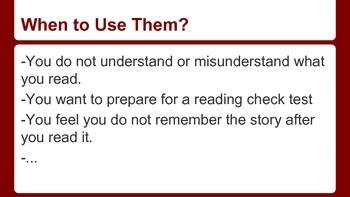 Reading Strategies (MELS - Highschool)