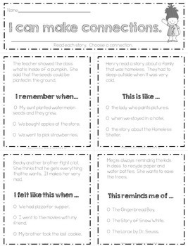 Reading Strategies: Making Connections with Pictures and Stories