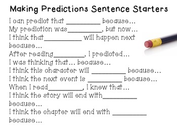 how to write a prediction for a story