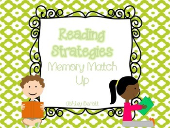 Reading Strategies Memory Match Up