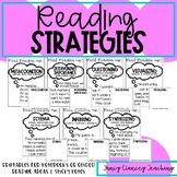 Reading Strategies Mini Posters and Sticky Note templates