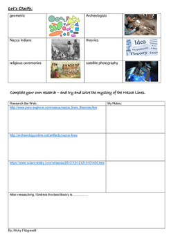 Reading Strategies - Mystery 7- Nazca Lines