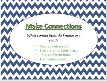 Reading Strategies: Navy and White