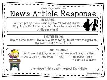 Reading Strategies News Article Response