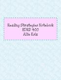 Reading Strategies Notebook