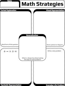Math Strategies Organizer